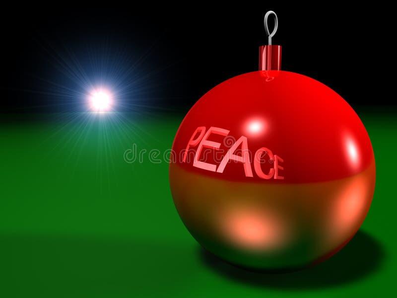 Paz de la Navidad stock de ilustración