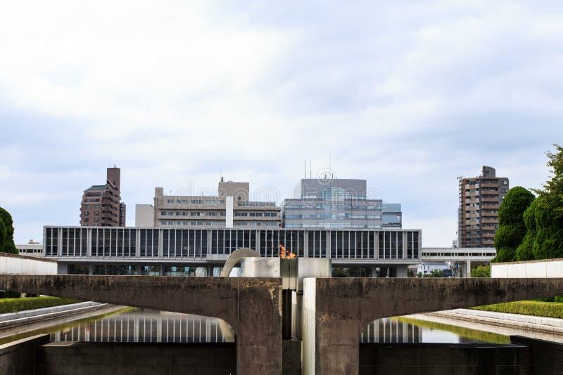 Paz del cenotafio en Hiroshima imagen de archivo