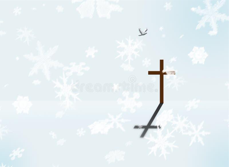 Paz do inverno ilustração stock