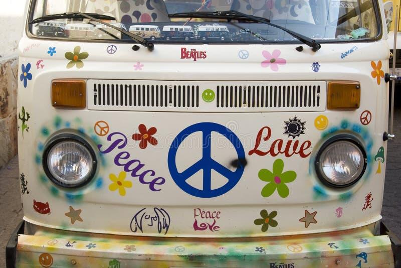 Paz e amor fotografia de stock