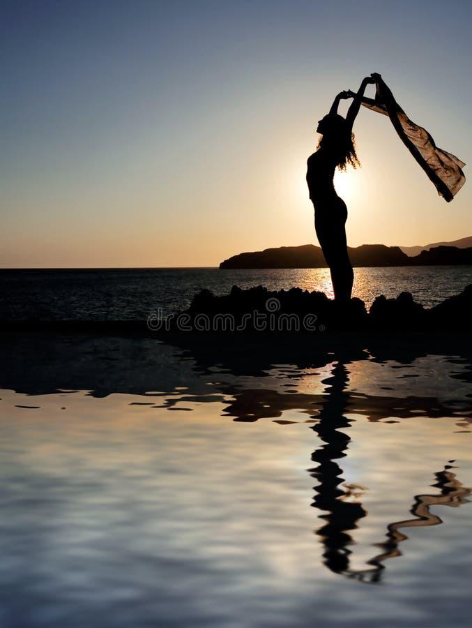 Paz e beleza no crepúsculo, fotografia de stock