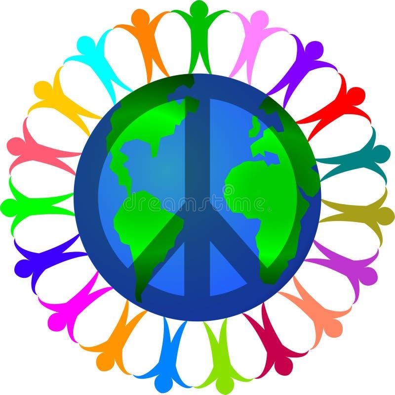 Paz em um mundo da diversidade ilustração do vetor