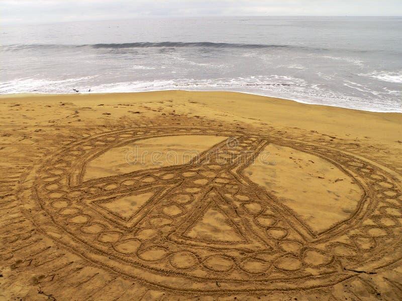 Paz en la playa fotografía de archivo libre de regalías