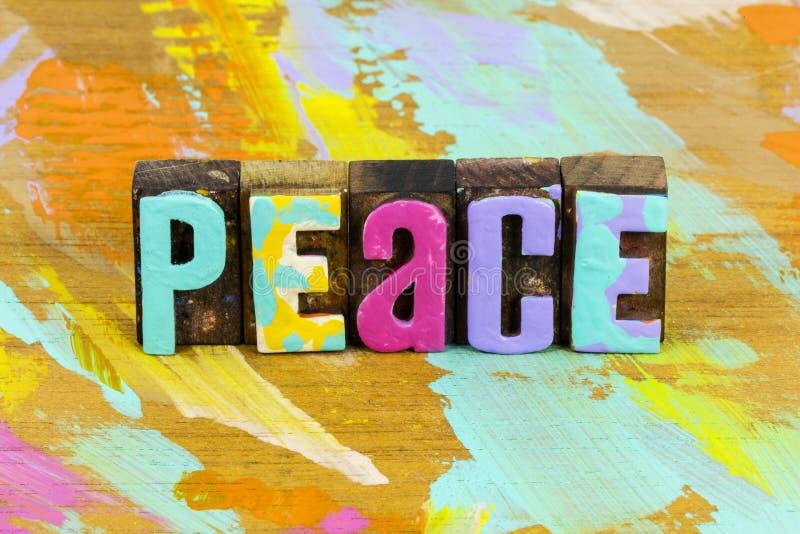 Paz fe esperanza alegría amor tiempo de felicidad foto de archivo