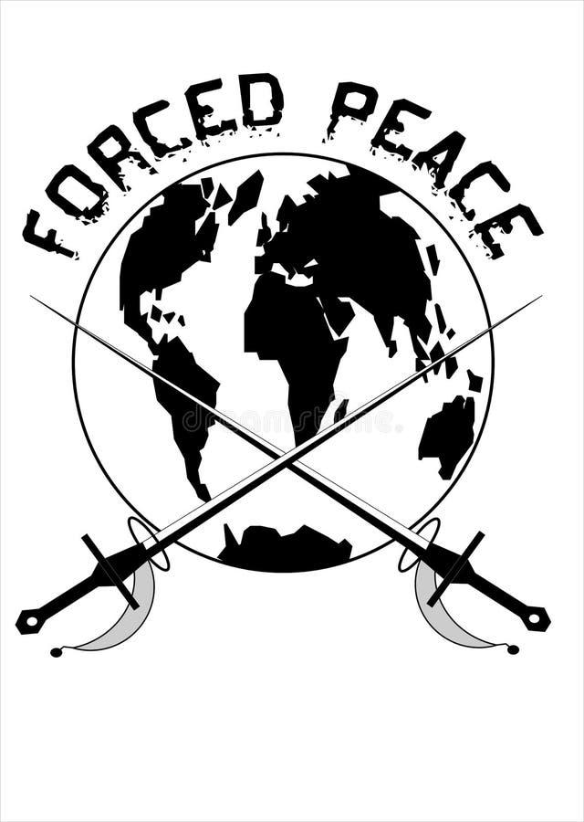 Paz forzada stock de ilustración