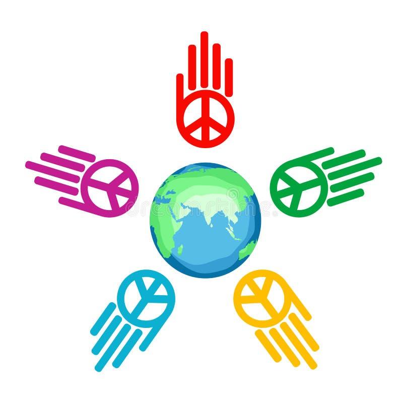 Paz global ilustração do vetor