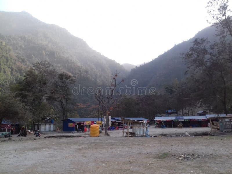 Paz Himalayan de la montaña imagen de archivo libre de regalías