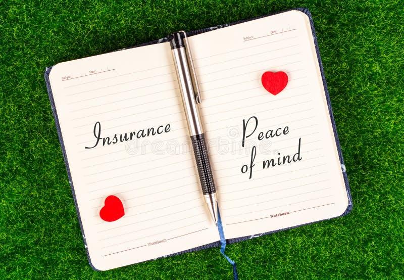 Paz interior igual del seguro imagen de archivo