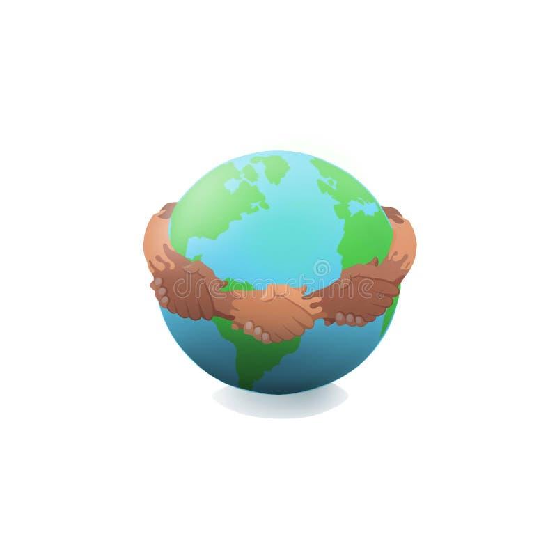 Paz na terra; ½ а Ð de Мир з¼ Д е de Ð?Ð ilustração stock