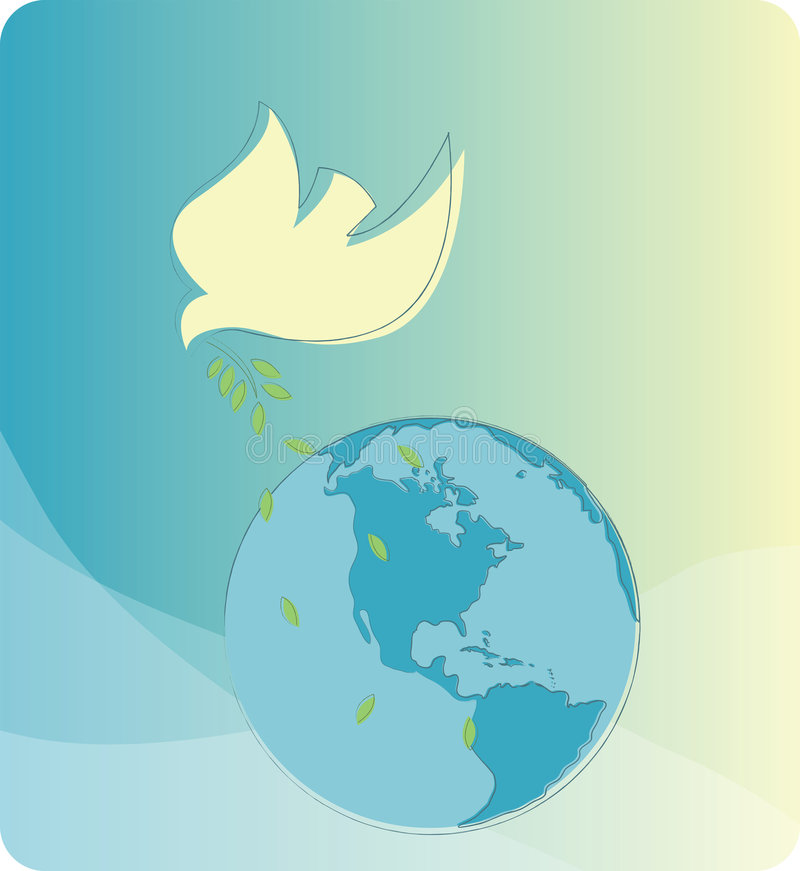 Paz na terra ilustração do vetor