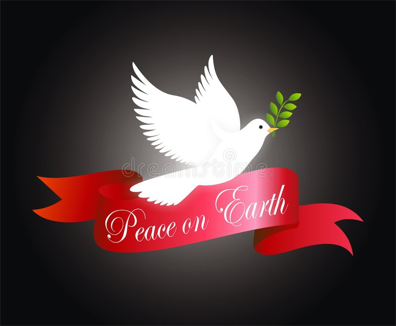 Paz na terra ilustração royalty free