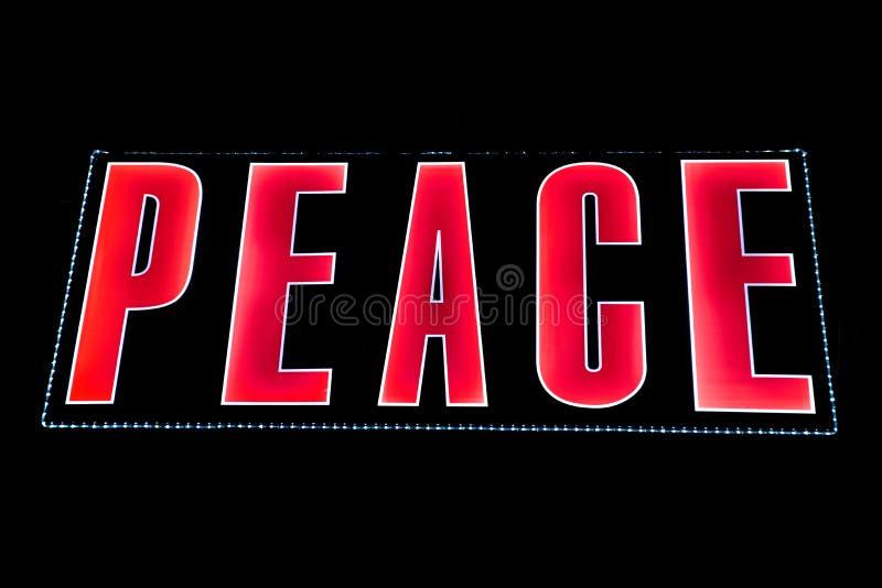Paz nas luzes imagens de stock royalty free