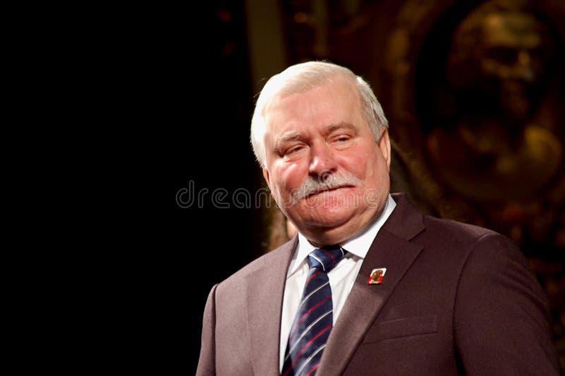 Paz Nobel Lech Walesa en el Regio imagen de archivo