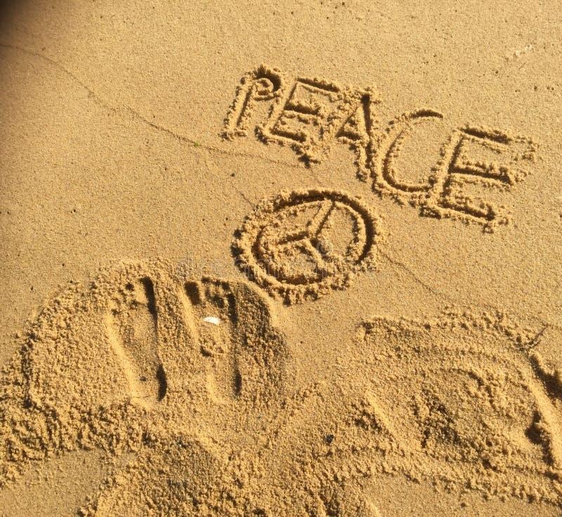 Paz pelo oceano imagens de stock