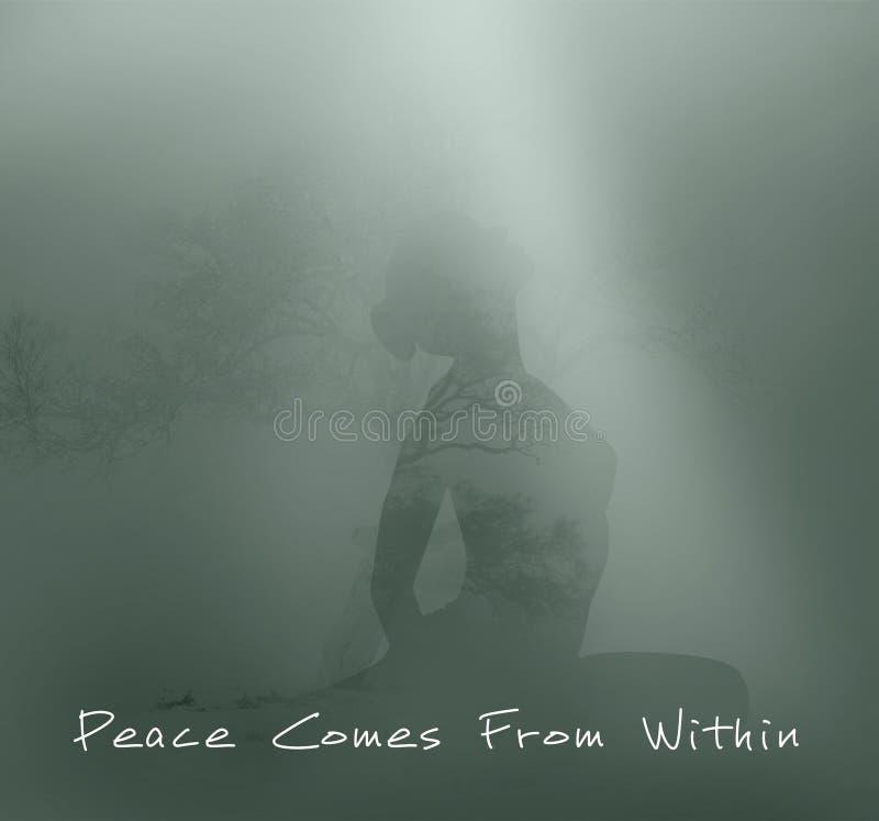 Paz vinda de dentro do conceito foto de stock royalty free