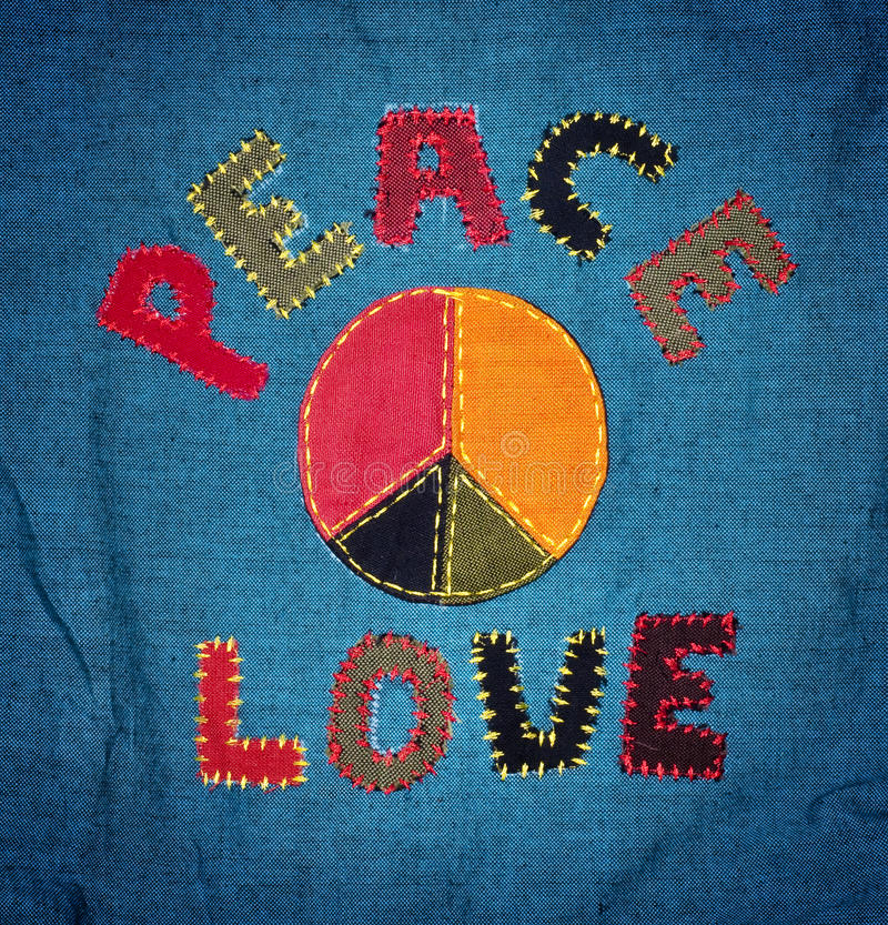 Paz y amor foto de archivo
