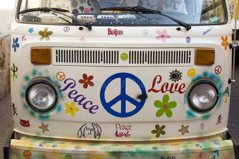 Paz y amor fotografía de archivo