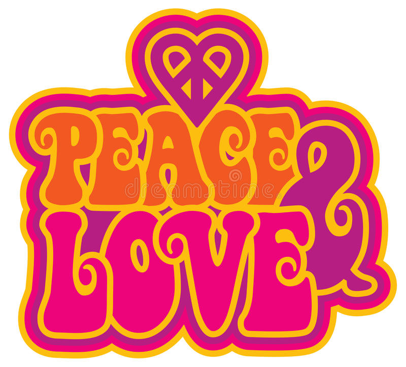 paz y amor libre illustration