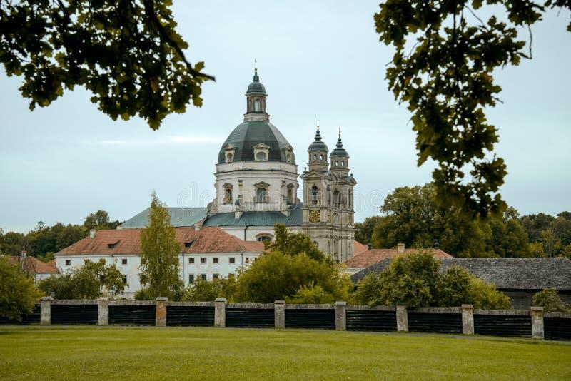Pazaislis in Kaunas, Lithuania. Baroque monastery of Pazaislis in Kaunas, Lithuania, Europe royalty free stock image