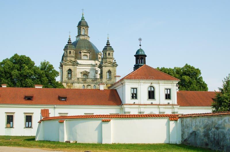 Pazaislis kościół w Kaunas i monaster, Lithuania obrazy royalty free