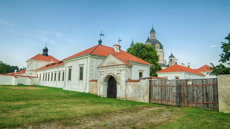 Pazaislis kościół w Kaunas i monaster, Lithuania obrazy stock