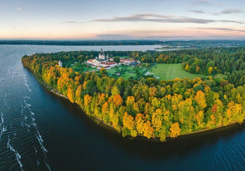 Pazaislis monaster w Kaunas, Lithuania fotografia stock