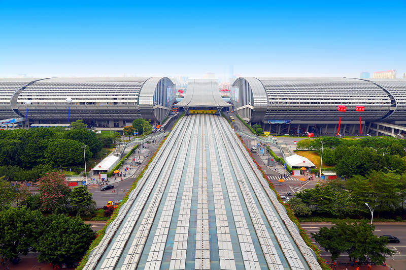Pazhou kompleks, Guangzhou, porcelana zdjęcia royalty free