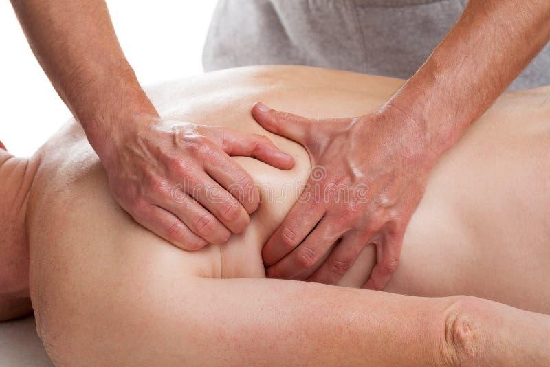 Paziente che ha massaggio fotografia stock