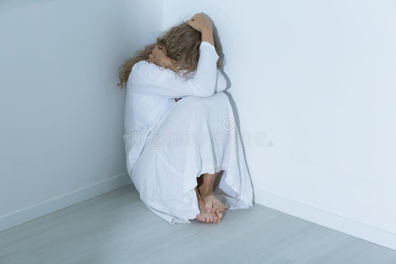 Paziente con un disturbo di ansia immagine stock