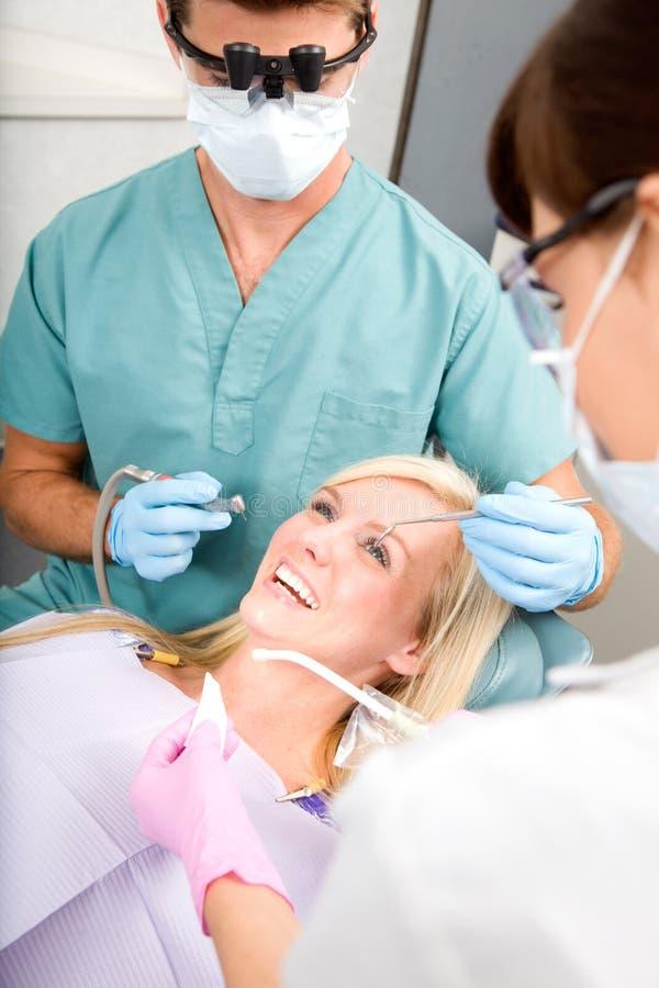 Paziente del dentista fotografia stock
