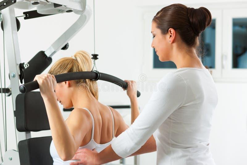 Paziente a fisioterapia fotografia stock libera da diritti