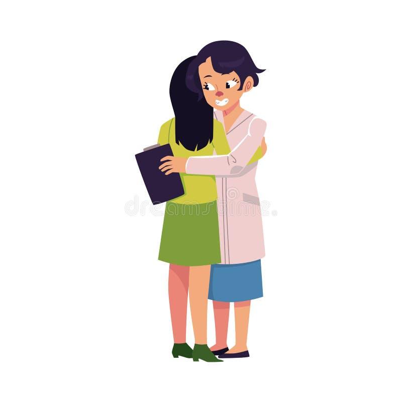 Paziente mentale commovente di medico piano di vettore royalty illustrazione gratis