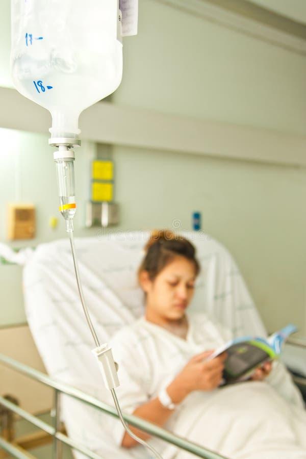 Paziente in ospedale fotografia stock
