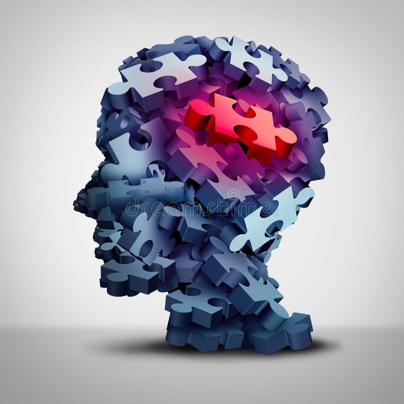 Paziente psichiatrico illustrazione di stock