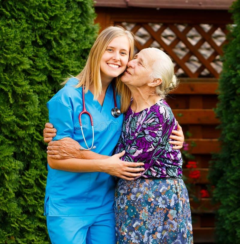 Paziente senior piacevole fotografia stock libera da diritti