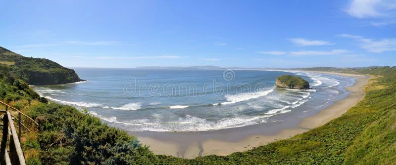 Pazifikküste in auf der Insel von Chiloe in Chile lizenzfreies stockfoto