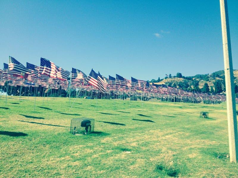 Pazifikküste der amerikanischen Flaggen hwy lizenzfreies stockbild