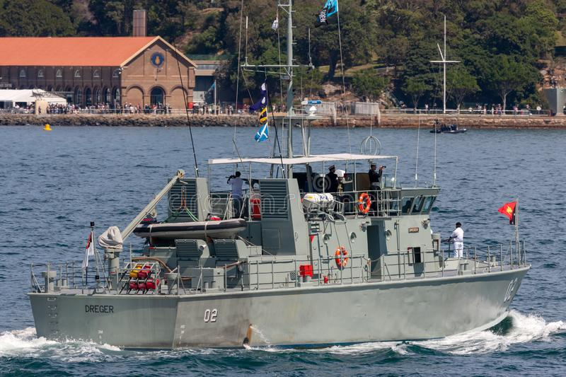 Pazifisch-klassepatrouillenboot HMPNGS Dreger der Papua-Neu-Guinea Verteidigungs-Kraft lizenzfreie stockfotografie