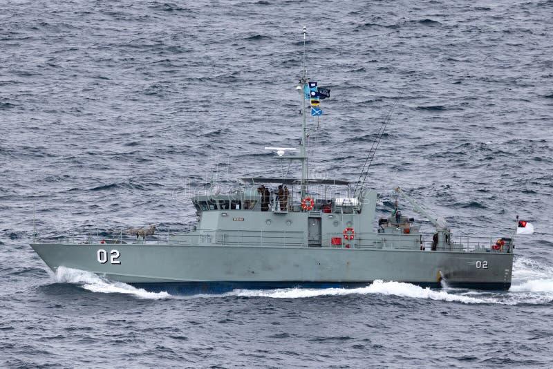 Pazifisch-klassepatrouillenboot HMPNGS Dreger der Papua-Neu-Guinea Verteidigungs-Kraft lizenzfreies stockbild