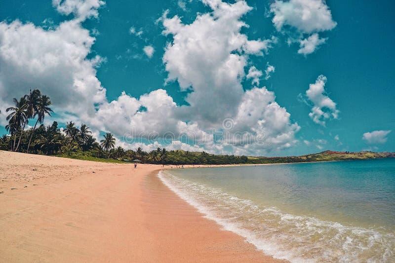 Pazifischer Strand von Pulandaga lizenzfreies stockfoto