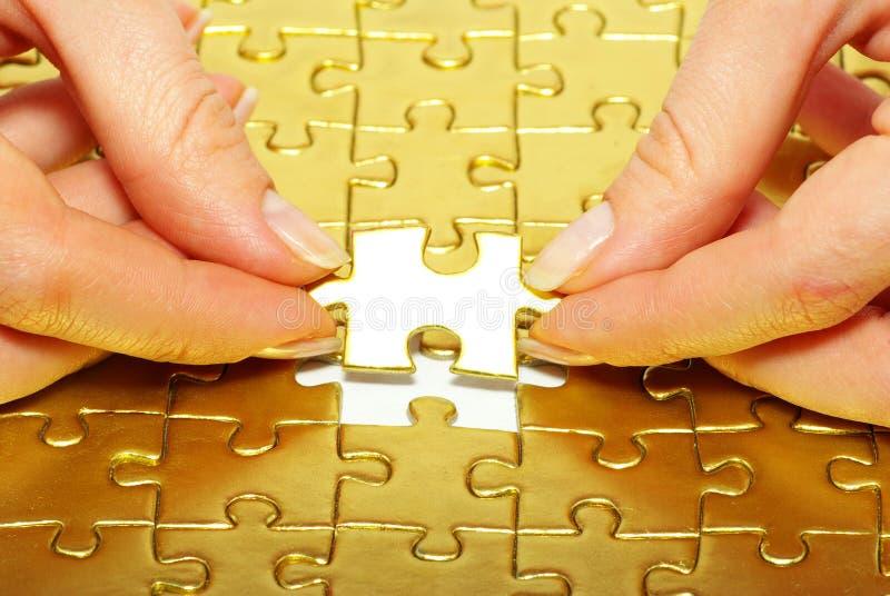 pazles d'or photo libre de droits