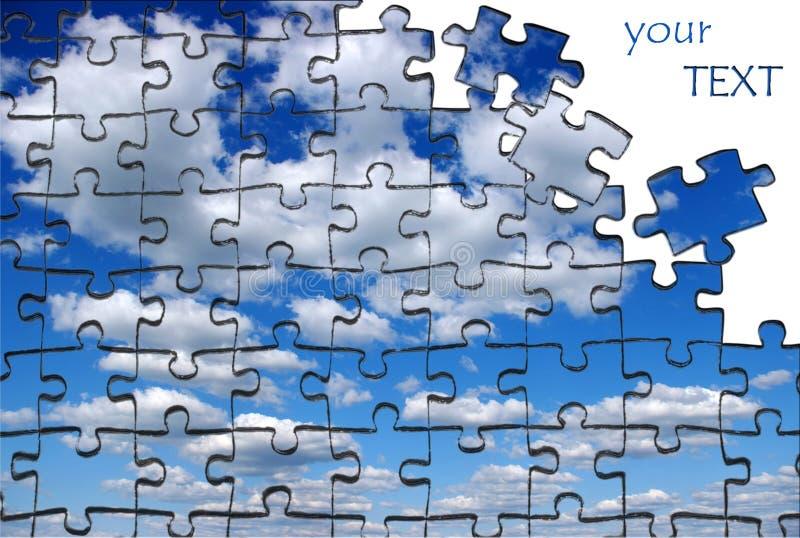 Pazles de ciel image libre de droits