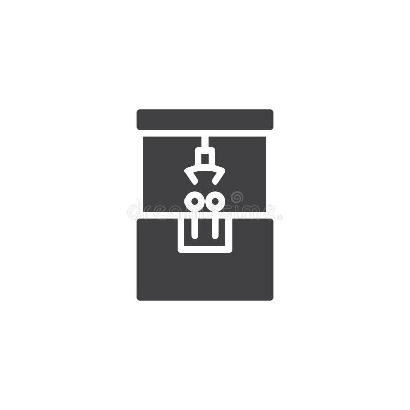 Pazur maszynowa wektorowa ikona ilustracji