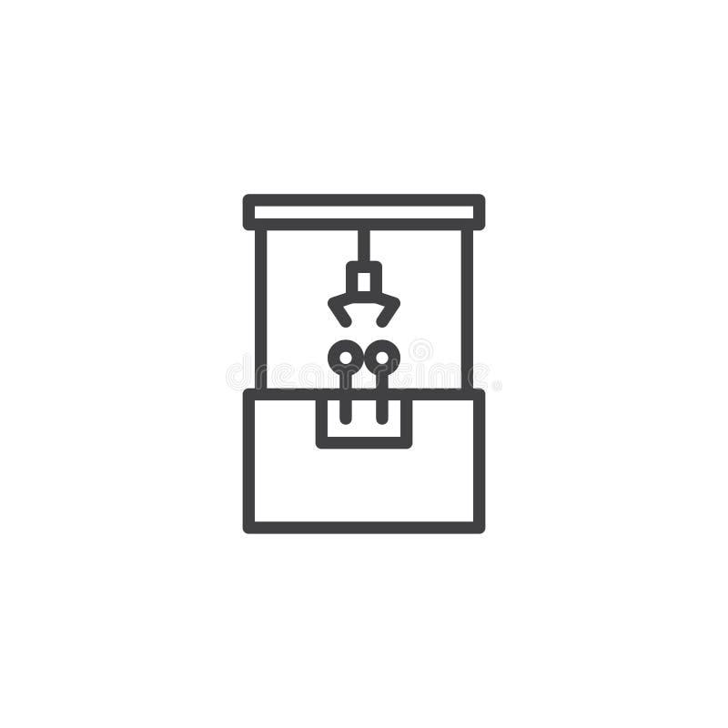 Pazur maszyny linii ikona ilustracja wektor