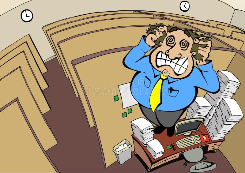Pazzia del cubicolo royalty illustrazione gratis
