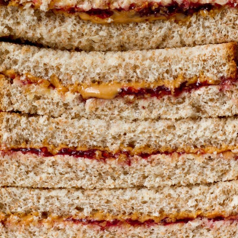 PB&J Sandwiche lizenzfreie stockfotos