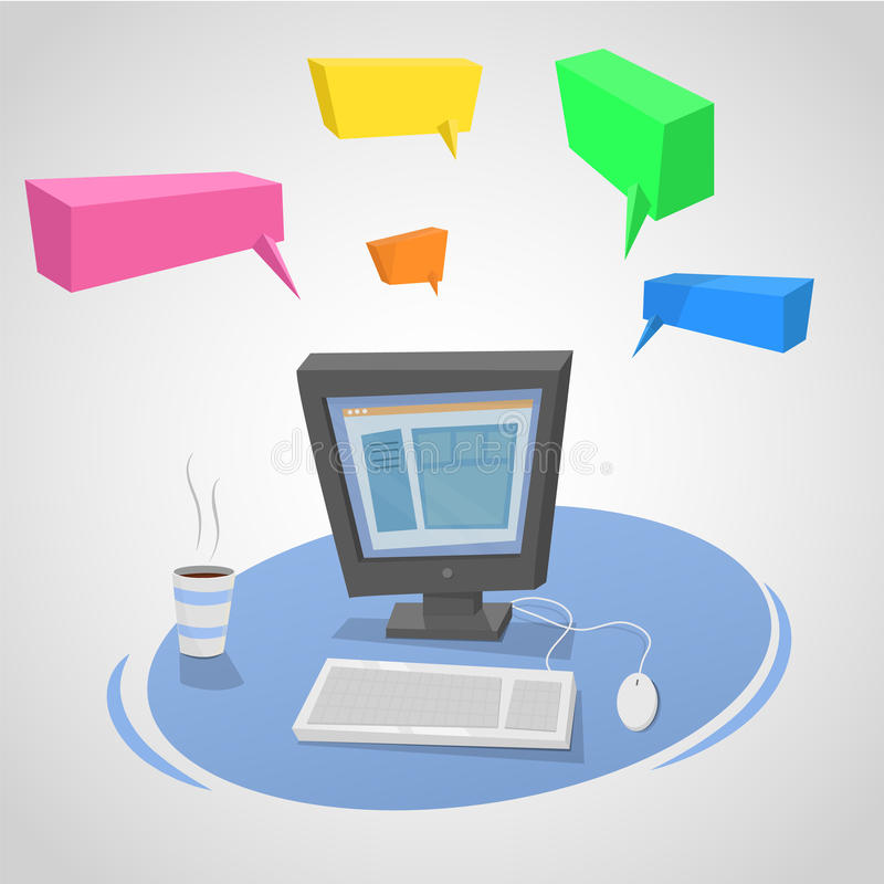PC συνομιλίας απεικόνιση αποθεμάτων