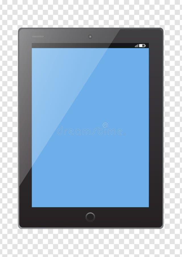 PC ταμπλετών, πρότυπο ηλεκτρονικών συσκευών στο διαφανές υπόβαθρο ελεύθερη απεικόνιση δικαιώματος