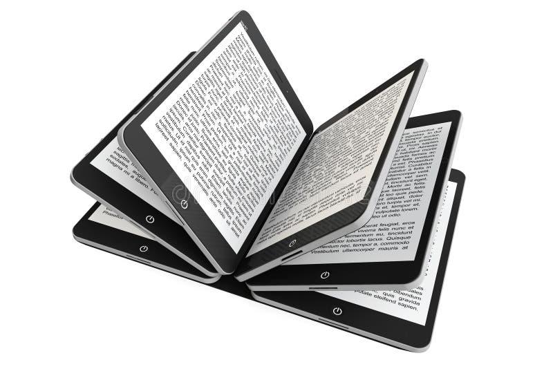 PC ταμπλετών ως σελίδες βιβλίων απεικόνιση αποθεμάτων