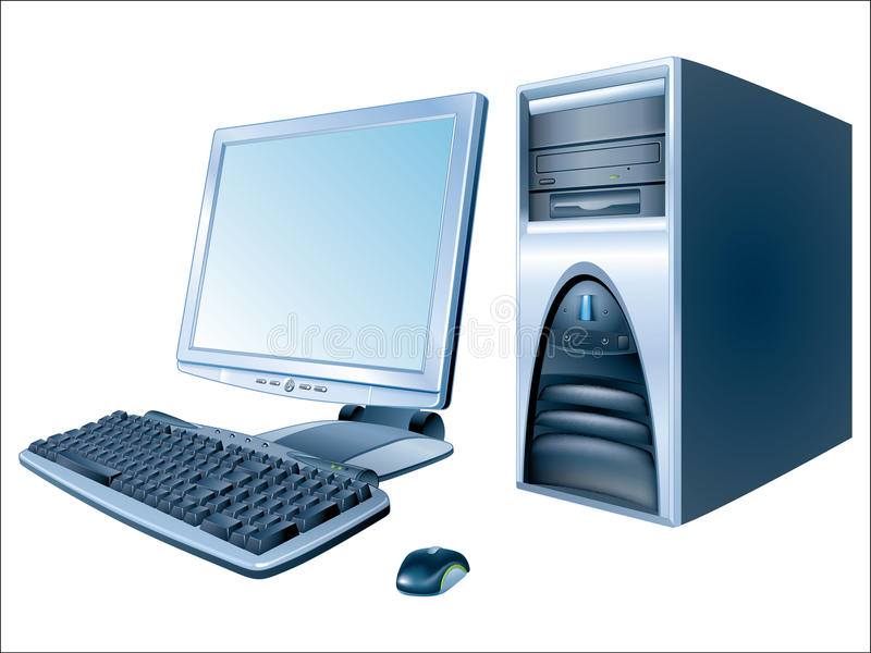 PC illustration stock